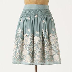 Anthropologie Sagebrush Skirt